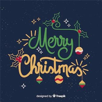 Vrolijk kerstfeest cool belettering ontwerp