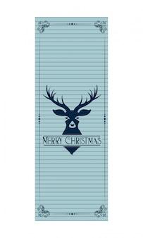 Vrolijk kerstfeest decoratie