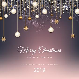 Vrolijk kerstfeest en een gelukkig nieuwjaar. 2019