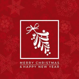 Vrolijk kerstfeest en een gelukkig nieuwjaar. begroeting, uitnodiging of menudekking. illustratie