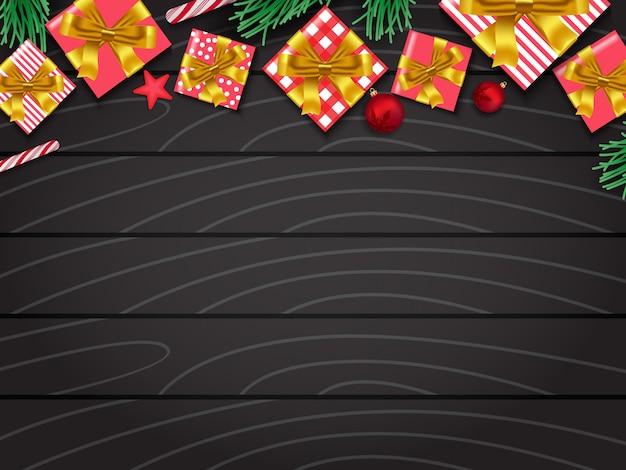 Vrolijk kerstfeest en een gelukkig nieuwjaarsbord