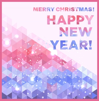 Vrolijk kerstfeest en een gelukkig nieuwjaarskaartje