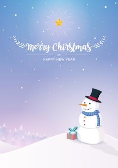 Vrolijk kerstfeest en gelukkig nieuwjaar achtergrond.