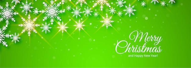 Vrolijk kerstfeest groene banner