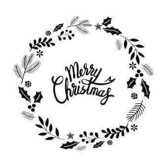 Vrolijk kerstfeest groet badge