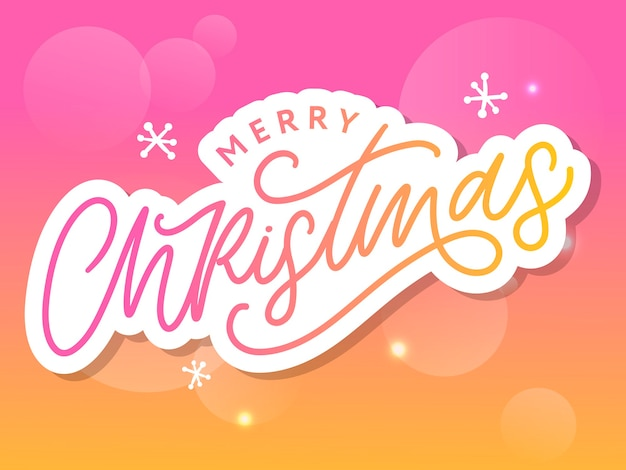 Vrolijk kerstfeest handgeschreven moderne borstel belettering