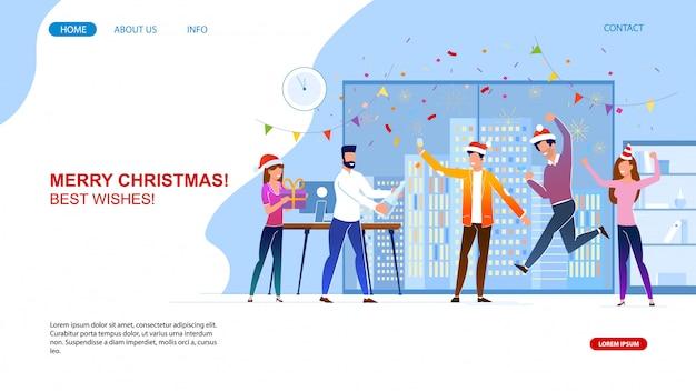 Vrolijk kerstfeest in de website van het bedrijfsbureau