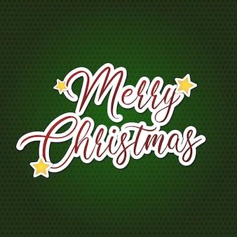Vrolijk kerstfeest in het groen