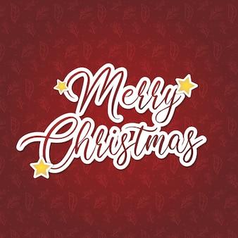Vrolijk kerstfeest in het rood