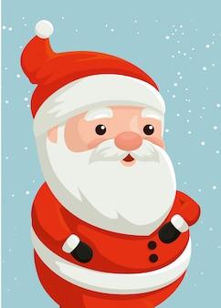 Vrolijk kerstfeest kerstman karakter