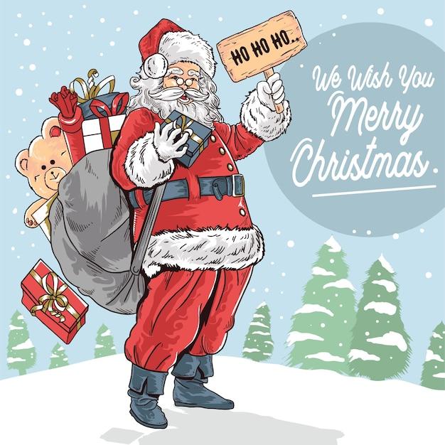 Vrolijk kerstfeest kerstman