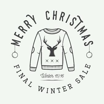 Vrolijk kerstfeest logo,