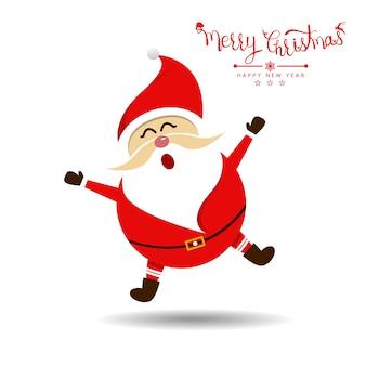Vrolijk kerstfeest met de kerstman. vector illustratie