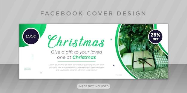 Vrolijk kerstfeest met facebook-omslagontwerp