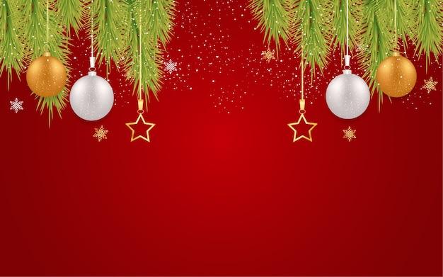 Vrolijk kerstfeest met kerstballen