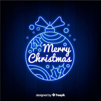 Vrolijk kerstfeest met neonontwerp