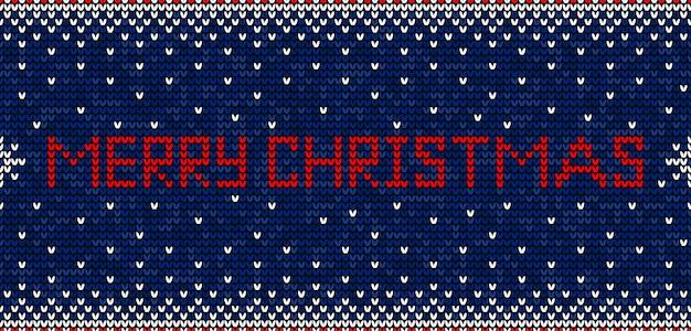 Vrolijk kerstfeest naadloos patroon breien