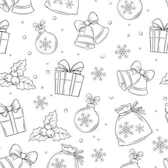 Vrolijk kerstfeest naadloze patroon