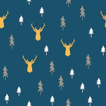 Vrolijk kerstfeest naadloze patroon.