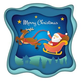 Vrolijk kerstfeest papercut