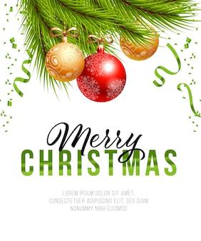 Vrolijk kerstfeest posterontwerp