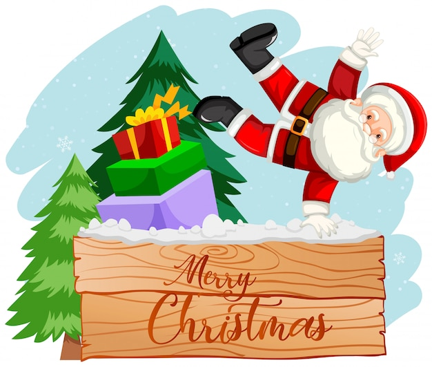Vrolijk kerstfeest santa scène