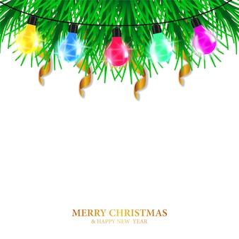 Vrolijk kerstfeest sjabloon voor spandoek