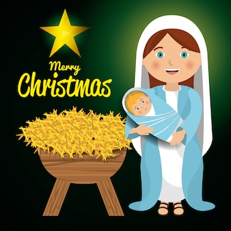 Vrolijk kerstfeest tekenfilms