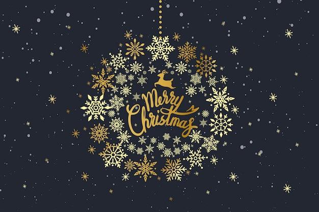 Vrolijk kerstfeest typografieontwerp