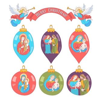 Vrolijk kerstfeest. vector kerstbal