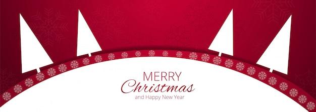Vrolijk kerstfeest voor kerst elementen banner