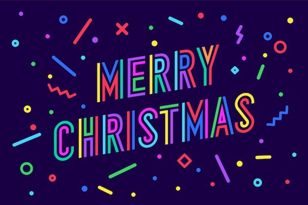 Vrolijk kerstfeest. wenskaart met tekst merry christmas.
