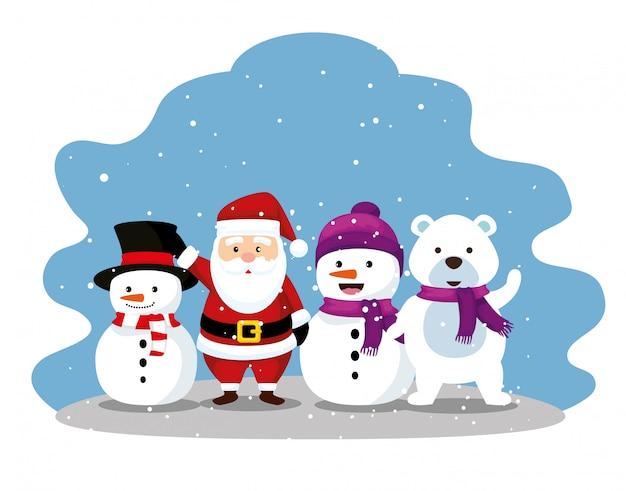 Vrolijk kerstmis decoratief element om te vieren