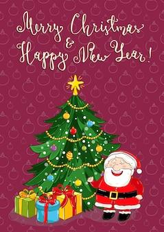 Vrolijk kerstmis en nieuwjaar vakantie concept