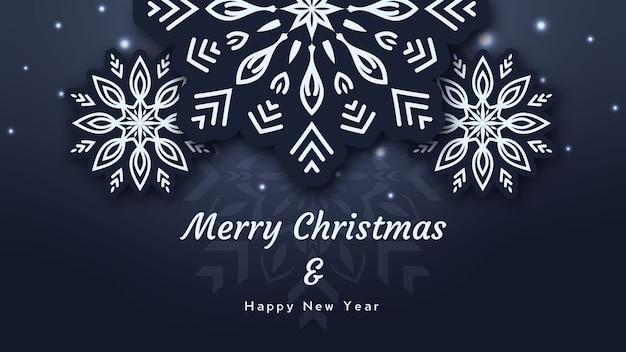 Vrolijk kerstmis en nieuwjaarontwerp als achtergrond