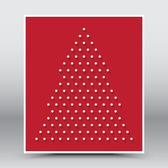 Vrolijk kerstmis gelukkig nieuwjaar rood
