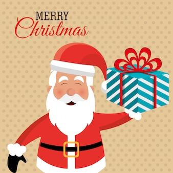 Vrolijk kerstmis kleurrijk kaartontwerp