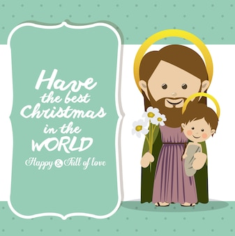 Vrolijk kerstmisconcept met het ontwerp van decoratiepictogrammen