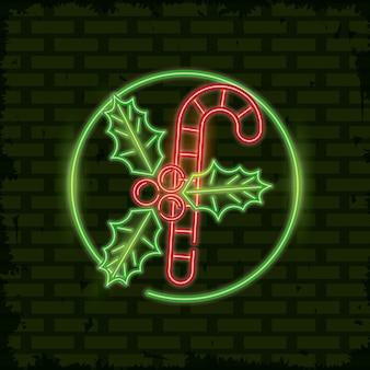 Vrolijk kerstmiskaartje neonlicht