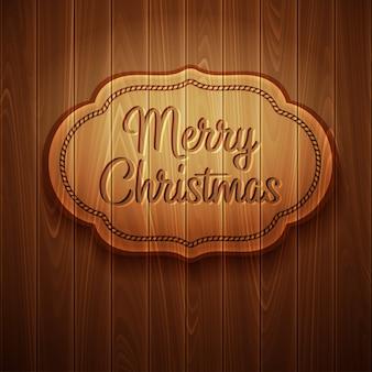 Vrolijk kerstmiskader op houten achtergrond