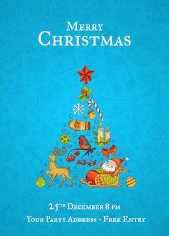Vrolijk kerstmispatroon