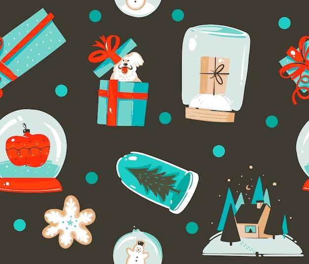 Vrolijk kerstpatroon