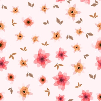 Vrolijk naadloos patroonbehang in oppervlakteontwerp met bloemen en bloemen