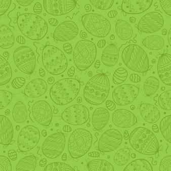 Vrolijk pasen naadloze achtergrond vector naadloos patroon van pasen-elementen