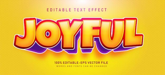 Vrolijk teksteffect