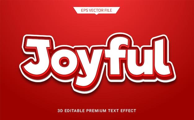 Vrolijke 3d-bewerkbare tekststijleffect premium vector