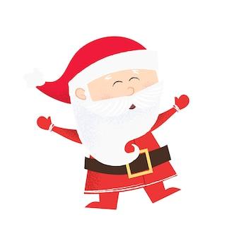 Vrolijke cartoon kerstman dansen