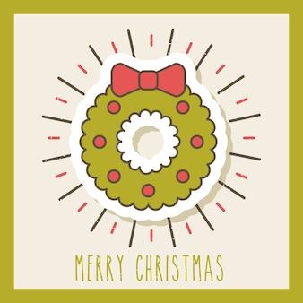 Vrolijke de decoratie van de boogballen van de kerstmiskroon viering