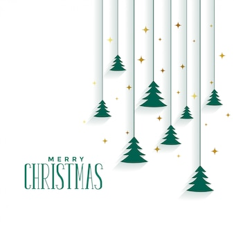 Vrolijke elegante kerstboom
