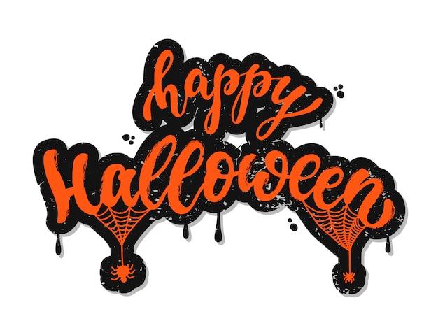 Vrolijke halloween belettering
